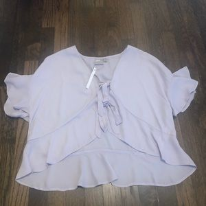 ASOS lilac tie front blouse size 4  NWT